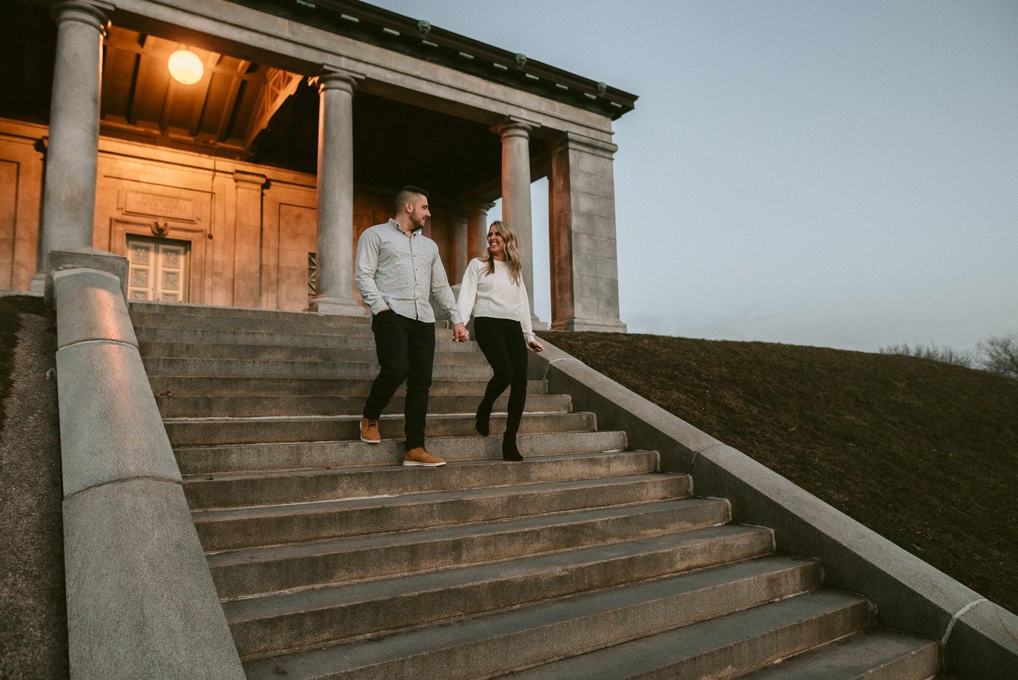 Engagement photos at Cobb's Hill, Photo by Matt Lim