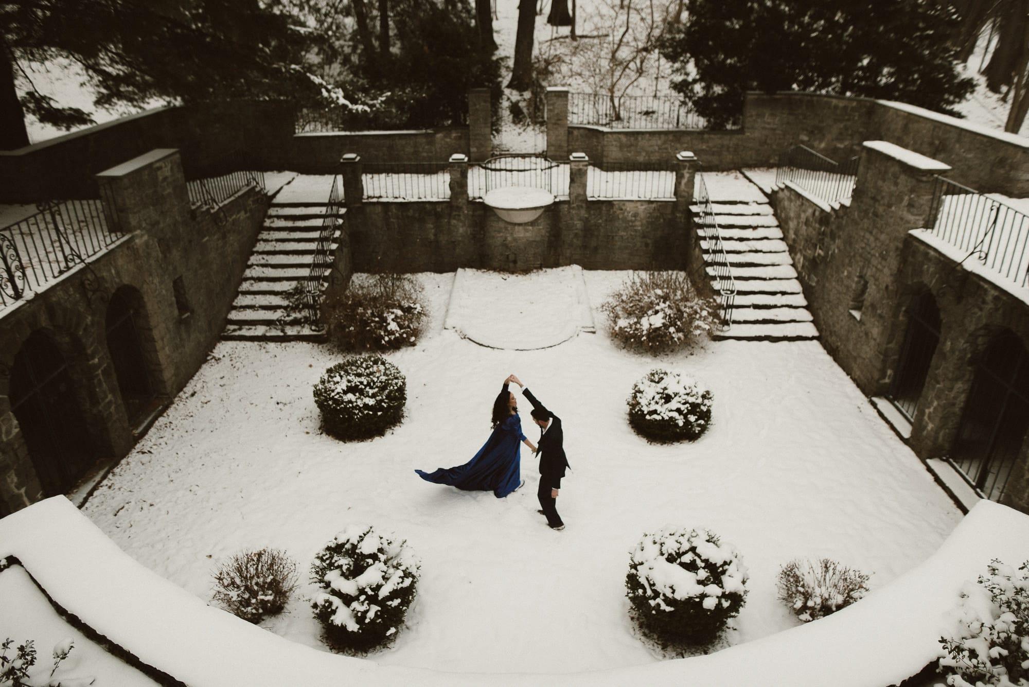 Wedding photo in the Sunken Garden, Photo by Matt Lim
